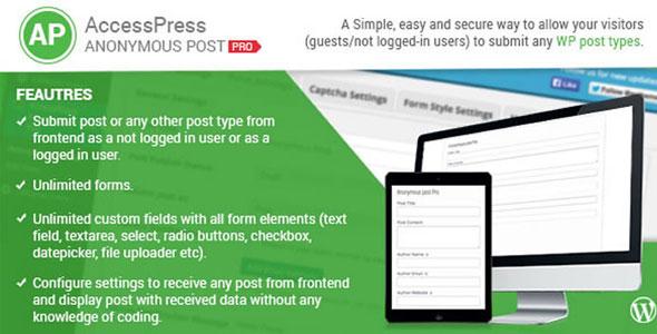 AccessPress-Anonymous-Post-Pro افزونه فارسی ارسال نوشته توسط کاربران در وردپرس
