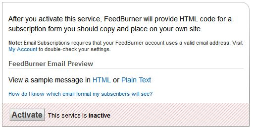 feedburner8 آموزش کامل فیدبرنر و ساخت خبرنامه رایگان با FeedBurner