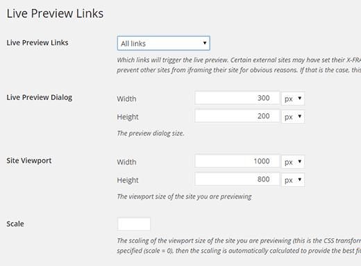 live-preview-links-settings افزونه پیش نمایش لینک در وردپرس
