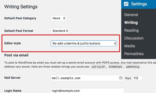 readdunderlinejustify افزودن دکمه تراز و زیر خط دار به ادیتور وردپرس