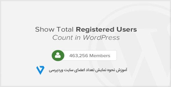 Registered-Users-in-WordPress آموزش نحوه نمایش تعداد اعضای سایت وردپرسی