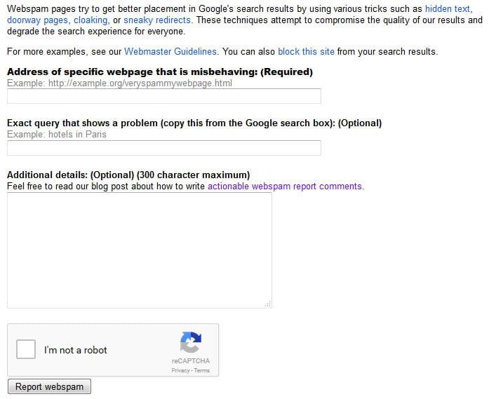 google-spam-report-src آموزش گزارش سایت های اسپم به گوگل