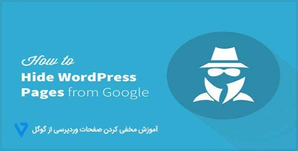 hidepae آموزش مخفی کردن صفحات وردپرسی از گوگل