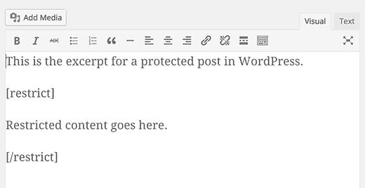 restrictcontentshortcode چگونه خلاصهای از نوشته رمزگذاری شده را نمایش دهیم؟