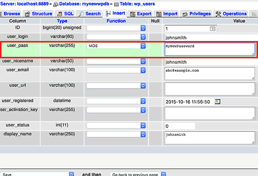 userpass آموزش بازیابی رمز عبور وردپرس در لوکال هاست