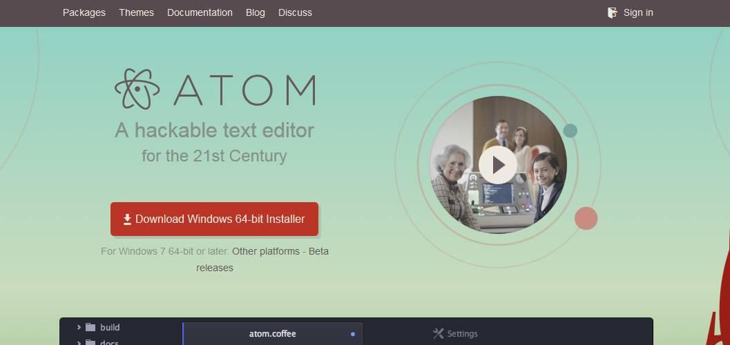 atom-download دانلود نرم افزار ویرایشگر فایل Atom