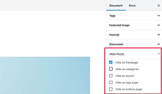 hideposts-settings مخفی کردن یک نوشته از صفحه اصلی سایت در وردپرس