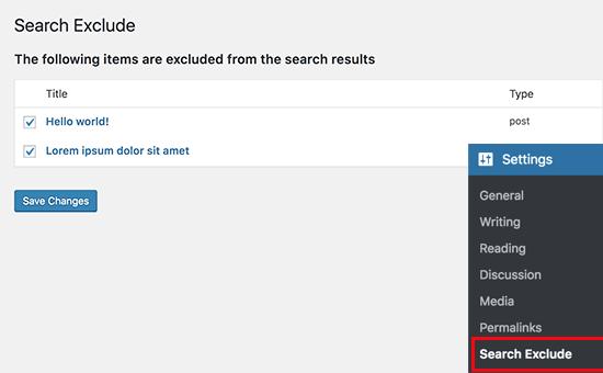 exclude-from-wordpress-search-2 مخفی کردن محتوای خاص از نتایج جستجو در وردپرس